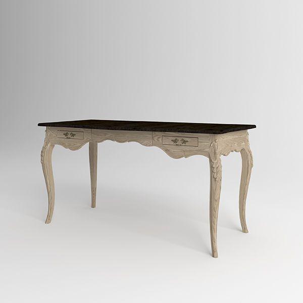 Письменный стол Versalles из натурального дерева. Артикул: D004. Размеры ДхШхВ: 150x70x75 см. Материал: дуб, ясень. Цвет: старый орех, натуральный ясень