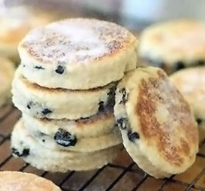 Welsh Cakes (Pice ar y Maen): Classic and traditional Welsh griddle cakes of spiced curranted dough cooked on a bakestone or griddle pan