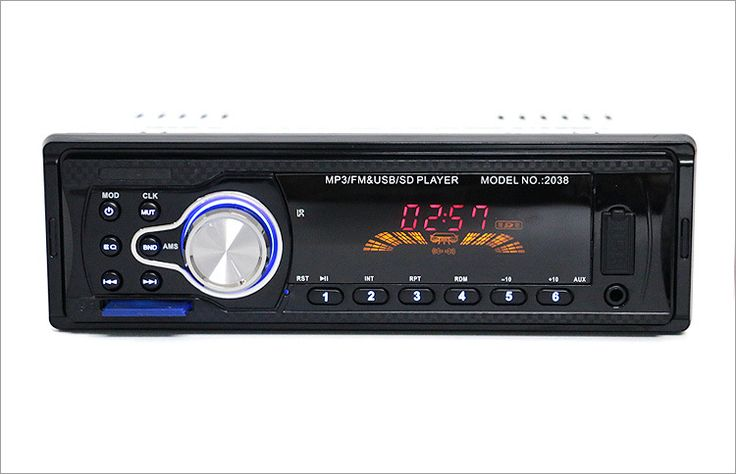 ==> [Free Shipping] Buy Best 2038 12V Vehicle Audio Radio Car MP3 Player Support FM SD MP3 Player AUX-IN USB Stereo Audios Single Din FM Receiver with Remote Online with LOWEST Price | 32806150964