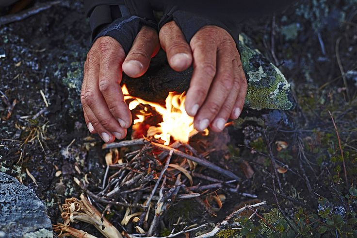 Trekking can be making that camp fire when the sun starts setting.