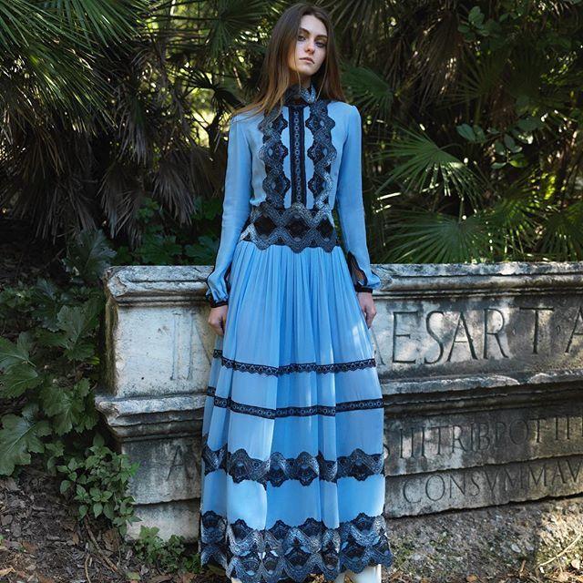 Pre-fall 2018 #rtw Collection. #costarellos #prefall18 #prefall2018 #pfw #parisfashionweek #paris #blue