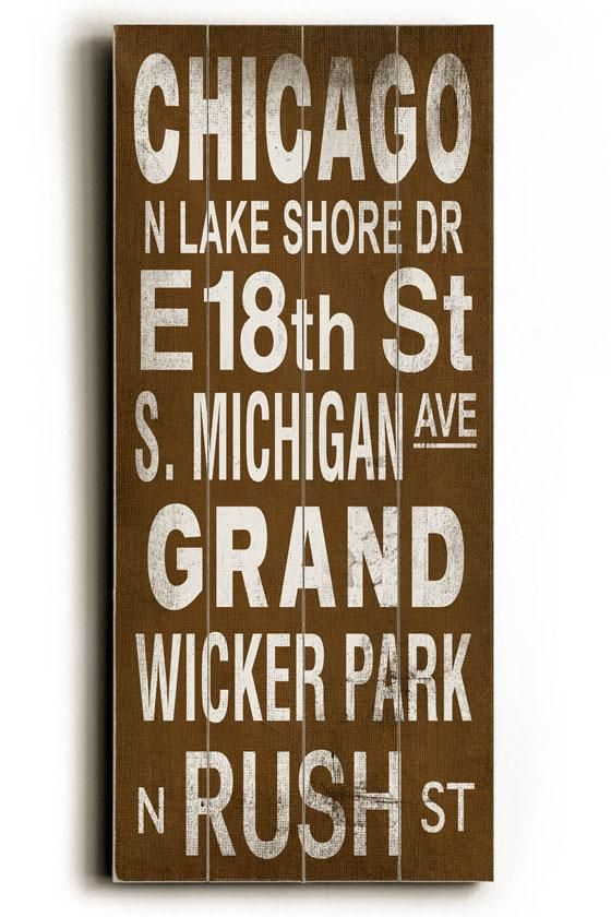 Home Decorators Collection Chicago Transit Sign Wall Plaque