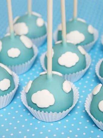 These cloud cake pops are perfect for your preschooler's Skye party! Any PAW Patrol fan worth their salt knows that Skye loves to fly high in her helicopter. If you make or buy these sweet treats for a birthday party, you could even place small Skye toys around them to make it look like she is flying through the clouds! This is a dessert win.