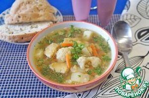 Суп из копченой трески и цветной капусты
