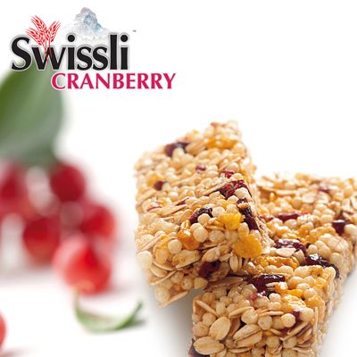 Sink your teeth into this!!! ONLY 90 calories per bar - Low sodium - Low in Fat !!!  #Cranberry #Muesli #MuesliBars #CerealBars #Swissli  #Breakfast #Snacks #yummy #LowINFat