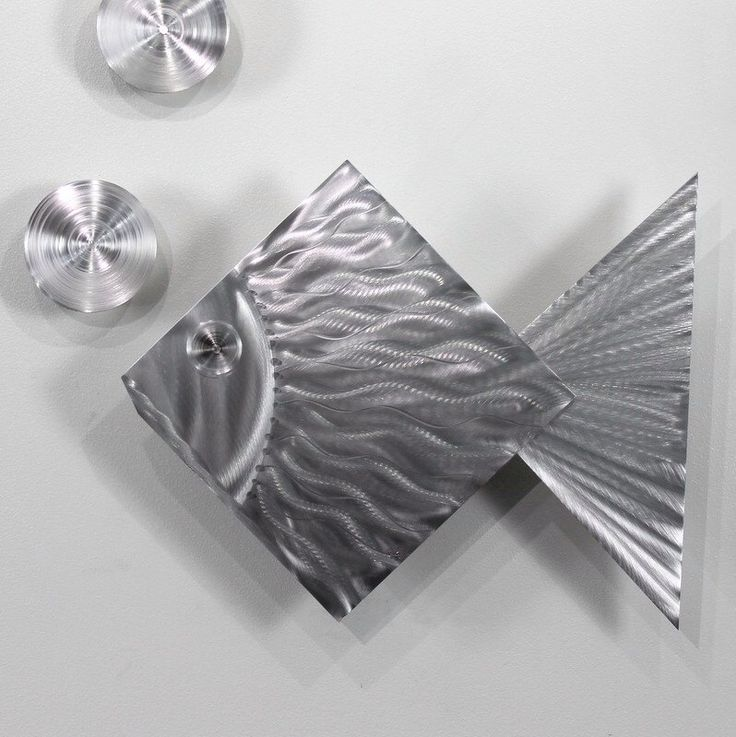 Tropical Modern Metal Wall Art - Handmade Fish Sea Silver Wall Sculpture for Nautical Decor - Island Time by Jon Allen by JonAllenMetalArt on Etsy https://www.etsy.com/uk/listing/152970122/tropical-modern-metal-wall-art-handmade