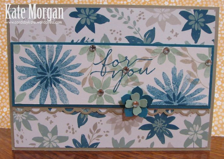 Blooms & Bliss DSP, Blooms & Wishes, 2016-2018 In Colors, DIY, #stampinup, Handmade card, Stampin Up 2016
