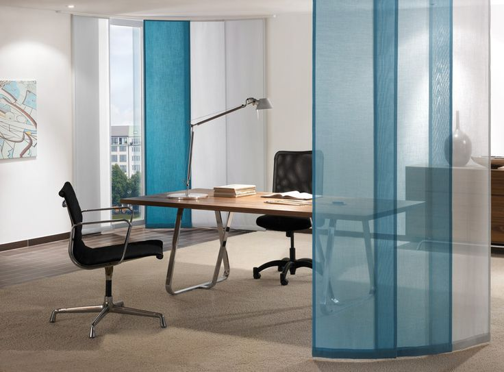 office curtains. Custom Panel Blinds Can Be Used For Office Partitions - Luxury Bespoke Blinds, London Curtains