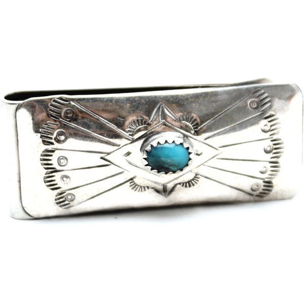 Wild Horses Navajo Money Clip ($32) ❤ liked on Polyvore featuring men's fashion, men's accessories, men's money clips and silver
