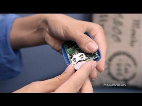 Changing the battery in the Chamberlain® Universal Garage Door Remote model KLIK3U - YouTube  Garage door  Remote control
