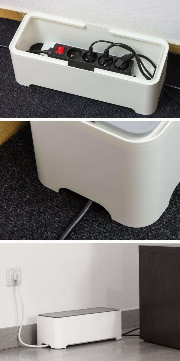 La boîte de rangement E-Box Allibert permet de ranger, organiser et dissimuler les câbles et les multiprises