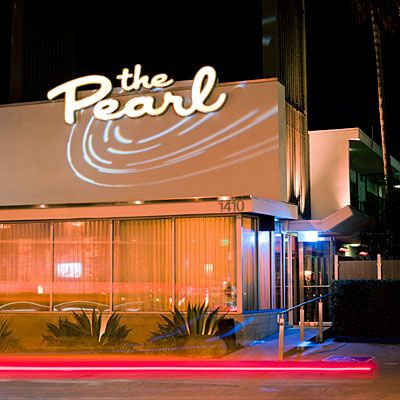 The Pearl Hotel, San Diego, CA -A block from the harbor, this vintage motel turned boutique hotel has kept its spirit with classic cocktails and Wednesday night movies year-round by the kidney-shaped saltwater pool. $150