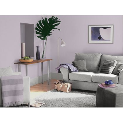 Gentle Lavender Dulux paint - 3 for 2 offer available now at Homebase in store and online at homebase.co.uk. (Offer expires 21st June)
