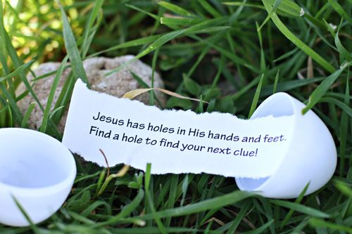 I love this!   Adding the Bible to your Easter egg hunt