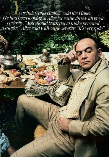 """""""Alice in Wonderland"""" by Annie Leibovitz for Vogue December 2003"""