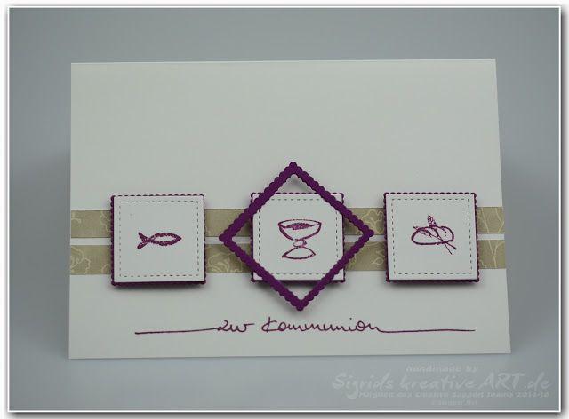 Stampin' Up! Ideenblog - Sigrids kreative ART: 7 Tage - 7 Sketche #kommunion #taufe #konfirmation #stichedframes #stampinup