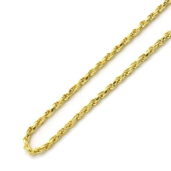 Men Women Solid 14k Gold 1mm Rope Chain Necklace Choker Necklace Free Gift Box Og351 21 Gold Necklace Rope Chain Gold