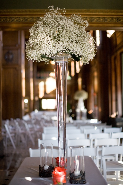Baby s breath tall centerpiece inspiration for mobella