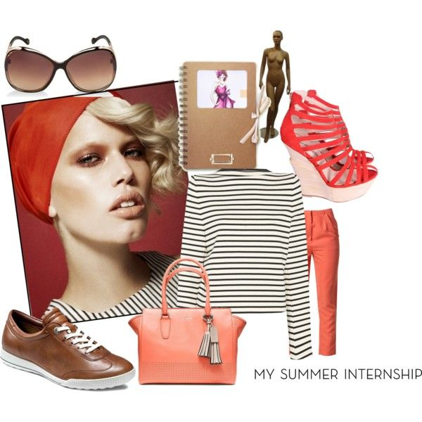 """""""My Summer Internship :Fashion Illustrator"""" by the-house-of-kasin on Polyvore"""