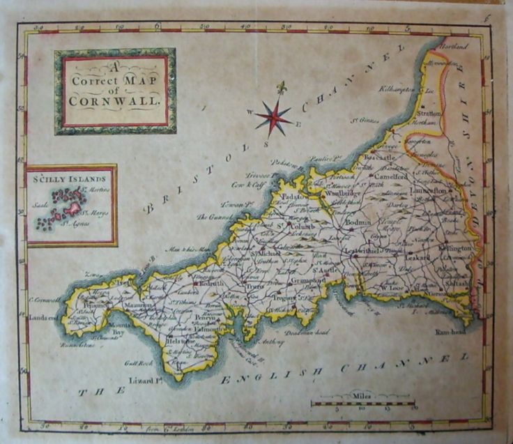 30 best maps images on pinterest maps cartography and antique maps old maritime maps rare copper plate map of cornwall by t osbourne published in sciox Gallery