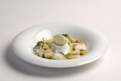 """""""Gelato al pecorino con insalata di baccalà"""" La ricetta dello Chef Alessandro Circiello"""