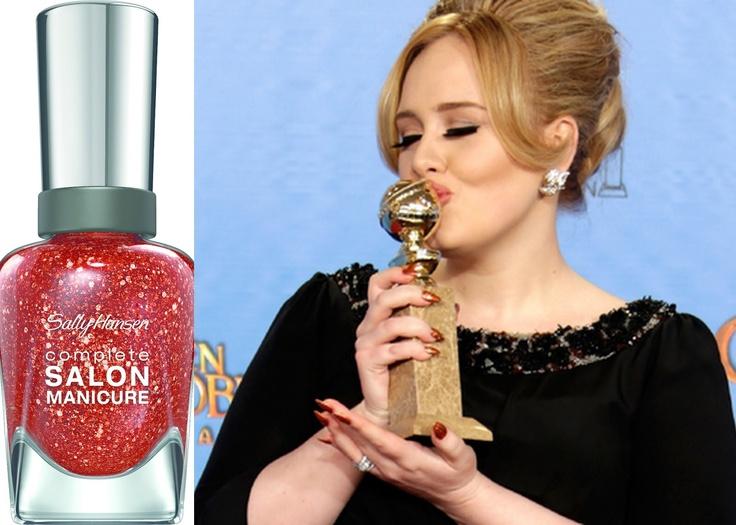 Enamel Girl: Adele Hits the Red Carpet in Sally Hansen