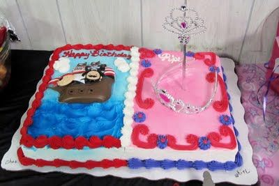 Pirate And Princess Cake From Walmart Pirate And
