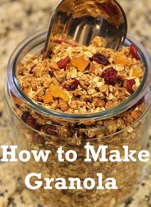 Recipe: How to Make Granola...this sounds really good!!! I am working on a healthier lifestyle...and I love granola!!!!