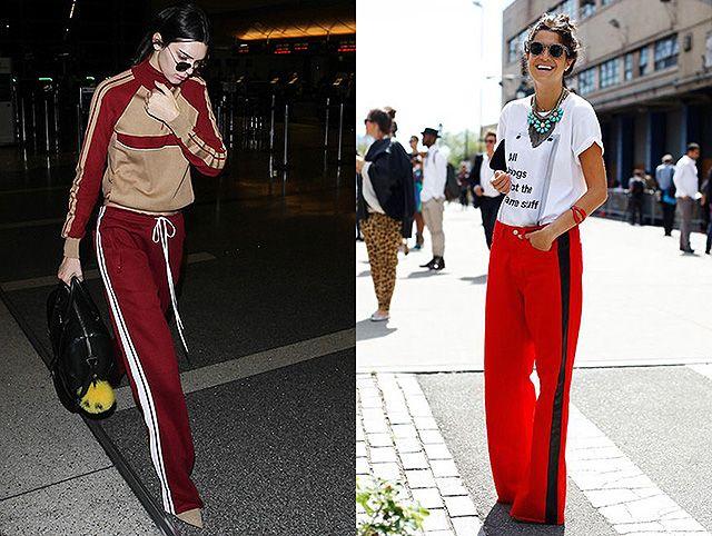 Тренд: Рианна, Кендалл Дженнер и другие выбирают спортивные брюки с лампасами | СПЛЕТНИК