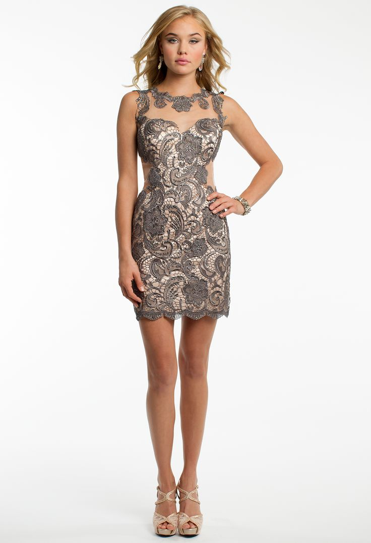 Short Lace and Illusion Dress #camillelavie
