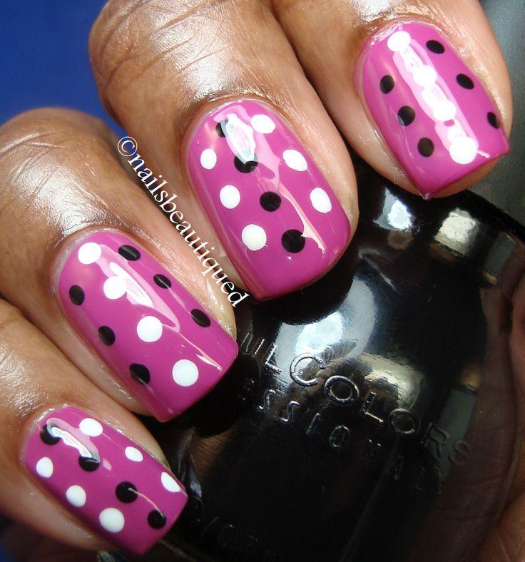 Pink Wednesday...Polka Dot Nail Art Design | Nails Beautiqued