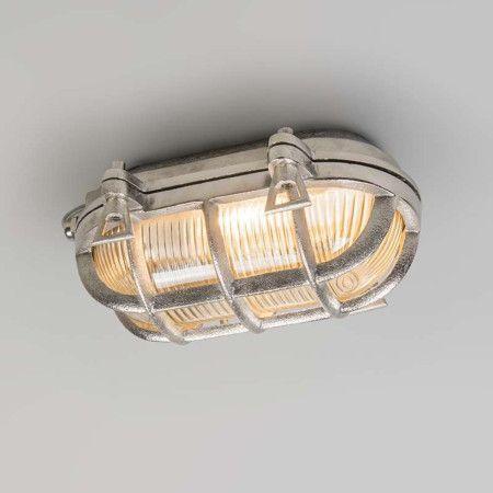 Wand/plafondlamp Nautica ovaal nikkel