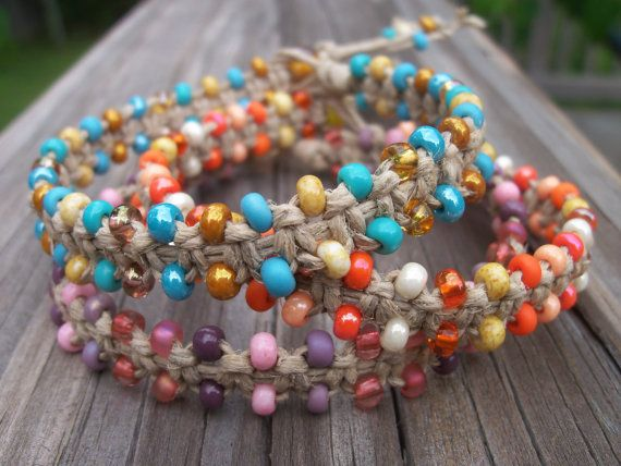 146 best hemp bracelet images on pinterest knot bracelets beaded hemp bracelet fandeluxe Images