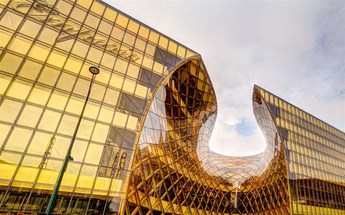 Lataa kuva Malmö, Emporia Ostoskeskus, Moderni arkkitehtuuri, moderneja rakennuksia, Ruotsi, ostoskeskus, lasinen julkisivu