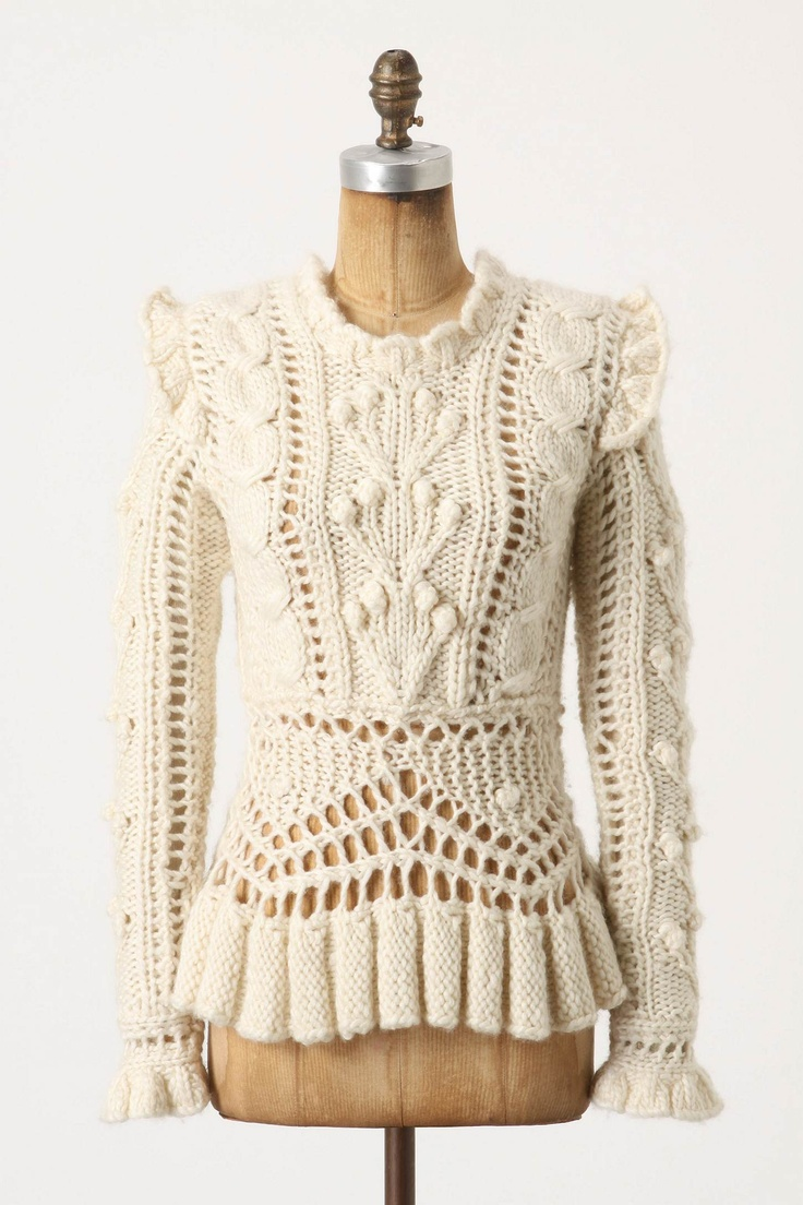 Bobbled Cableknit Sweater By Lower East Side designer and milliner James Coviello $100
