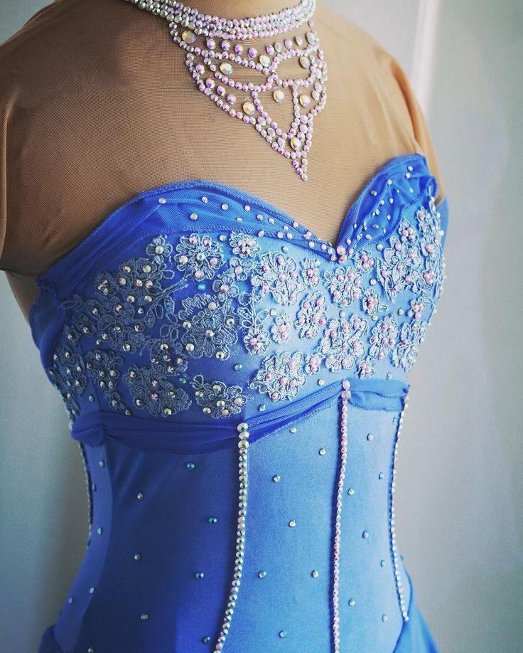 Cinderella Inspired Figure Skating Dress