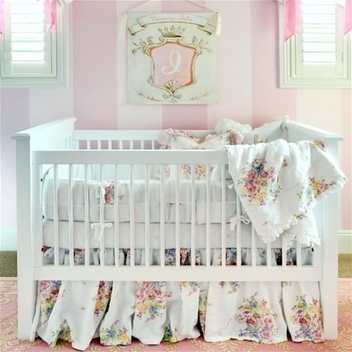 "A crib fit for a princess! Layla Grayce on Bella Notte Bedding for ""Project Nursery"""