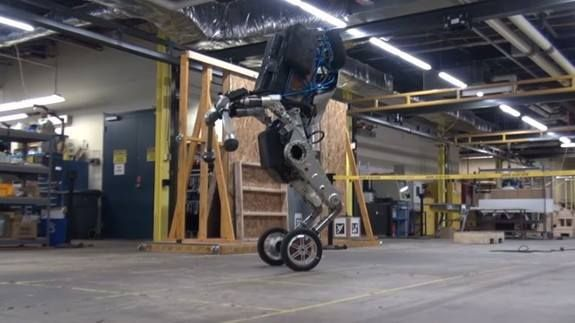 Bizarre Boston Dynamics robot moves like a world-class athlete Read more Technology News Here --> http://digitaltechnologynews.com  The glimpses we caught of Boston Dynamics' astounding Handle robot earlier this month didn't tell even half the story.  The cutting-edge robotics company officially unveiled the 6.5-foot-tall Handle on Monday weeks after a stunning yet brief video of it was leaked during a conference early this month.  Now we have the official video and confirmation that Handle…