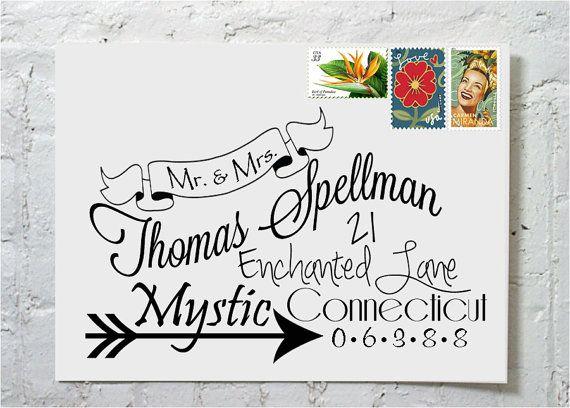 The Julia Dashingly Chic Calligraphy Envelope von ilulily auf Etsy