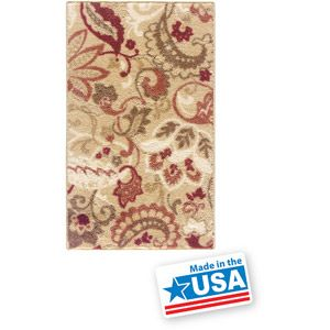 Better Homes And Gardens Paisley Spice Level Cut And Loop Printed Rug With  Skid Resistant Latex