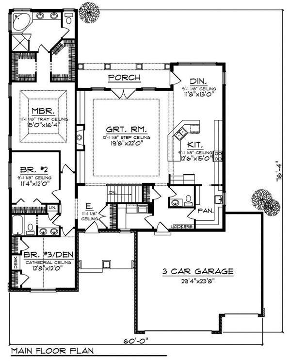 Main floor plan floors 1 living sq feet 2316 bedrooms 3 for Half bath floor plans
