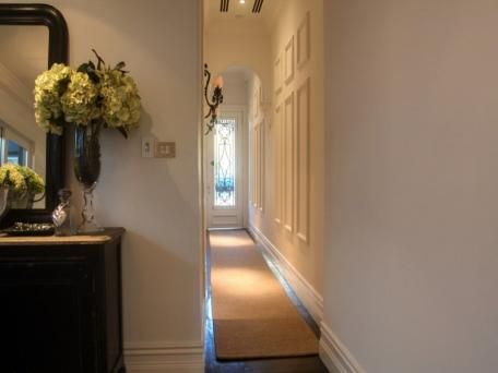 Hallway with mouldings