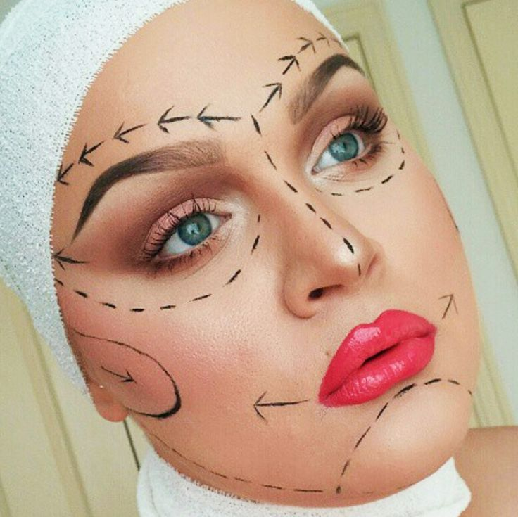 This plastic surgery inspired makeup look was created by @doyouevenblend. More: http://blog.furlesscosmetics.com/katina-k/