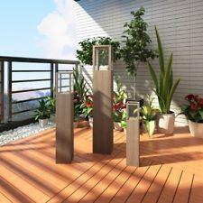 CANDELA DA GIARDINO SET 3pcs Stand Supporto per esterni illuminazione TORCIA LANTERNA DA GIARDINO BALCONE