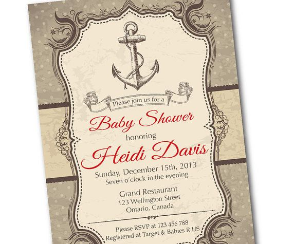 nautical baby shower invitation ahoy rustic nautical baby boy shower retro baby shower invite vintage background diy digital printable