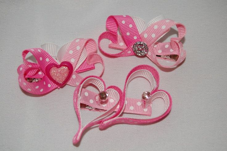 valentine hair bows | Valentine's Bows | Hair pretties