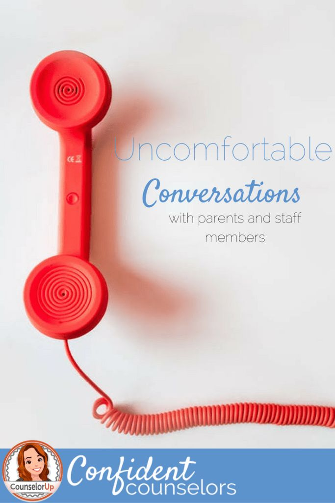 Handling Uncomfortable Conversations with Staff and Parents. Awkward and tense conversations are a regular part of a school counselor's job. Some helpful tips t make this conversations with parents and teachers go smoother using skills you already have…