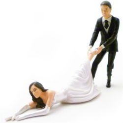 Check out Reluctant Bride Wedding Cake Topper. from Tesco direct