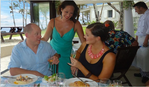 Tamanu on the Beach - renowned for its fine dining cuisine.