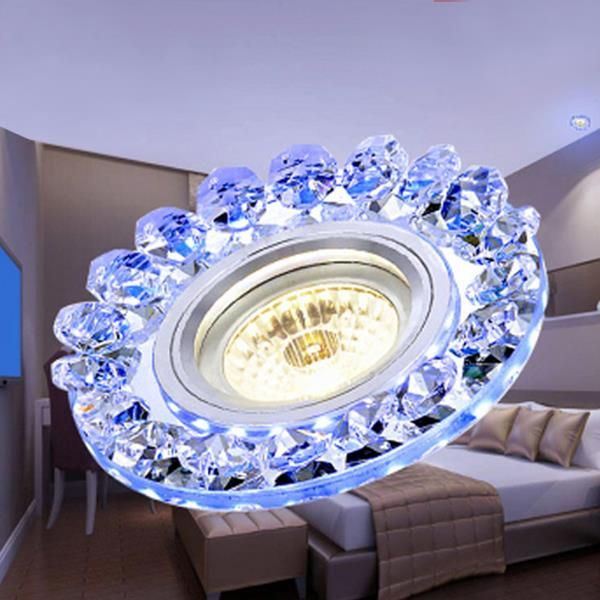 Modern 3w Cob Led Down Light Crystal Ceiling Lamp Indoor Living Room Bedroom Decor Crystal Ceiling Lamps Lamp Decor Led Decor